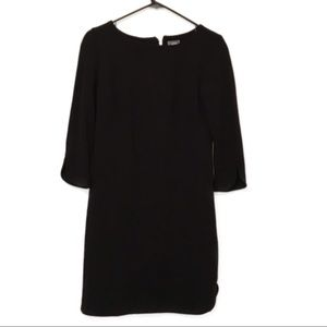 Vince Camuto black 3/4 sleeve dress with gold